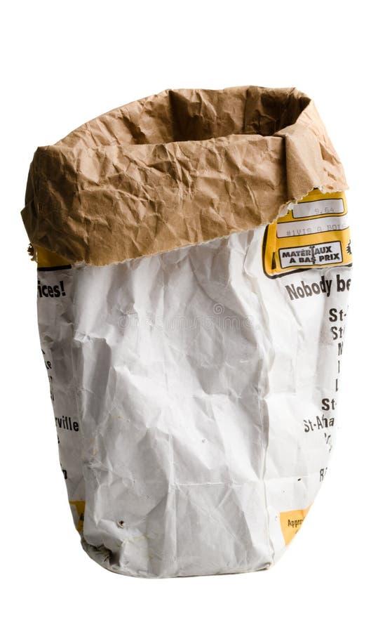 Sac de papier froissé utilisé photos libres de droits
