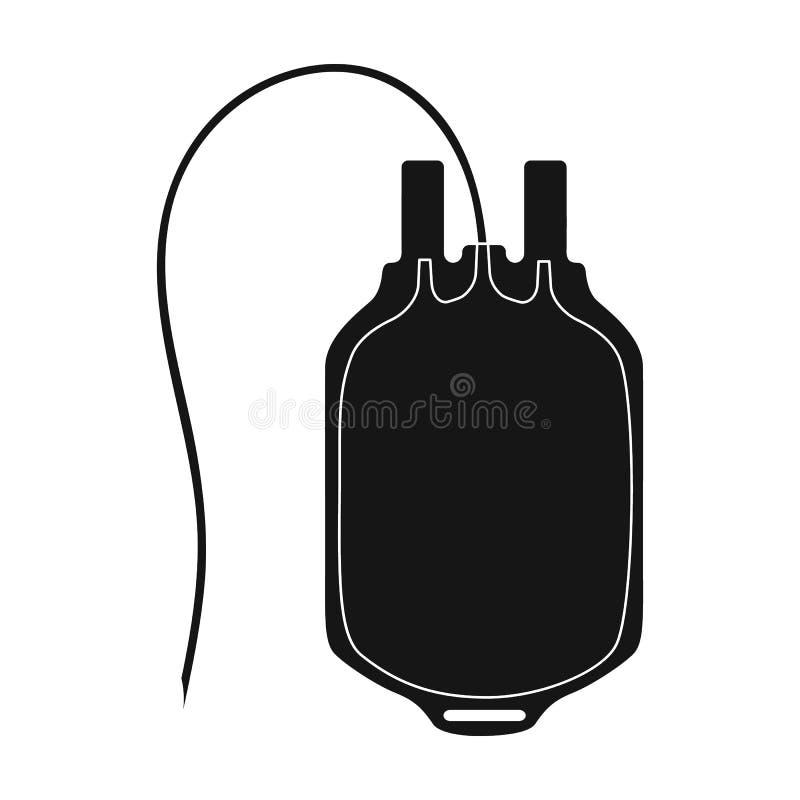 Sac de sang Icône simple de médecine en Web noir d'illustration d'actions de symbole de vecteur de style illustration de vecteur