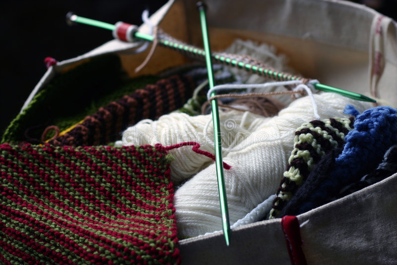 Sac de tricotage photos libres de droits