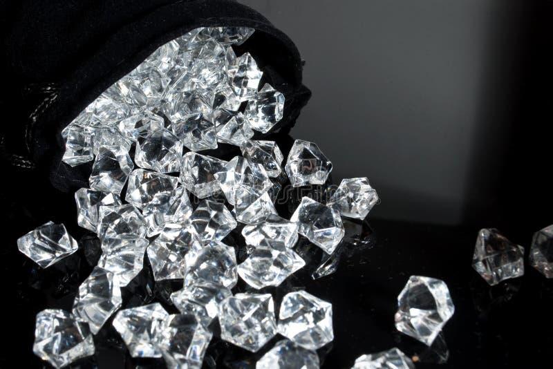Sac des diamants photographie stock libre de droits