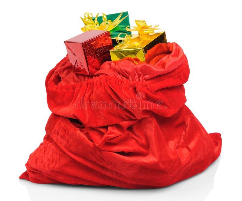 sac du p re no l avec des cadeaux photo stock image du cadeau imb cile 21790032. Black Bedroom Furniture Sets. Home Design Ideas