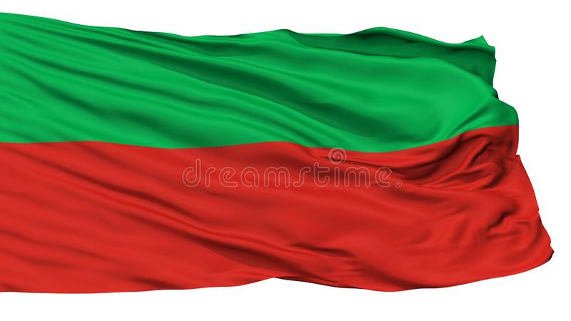 Sac And Fox Nation Indian Flag, Isolated On White. Background, 3D Rendering stock illustration