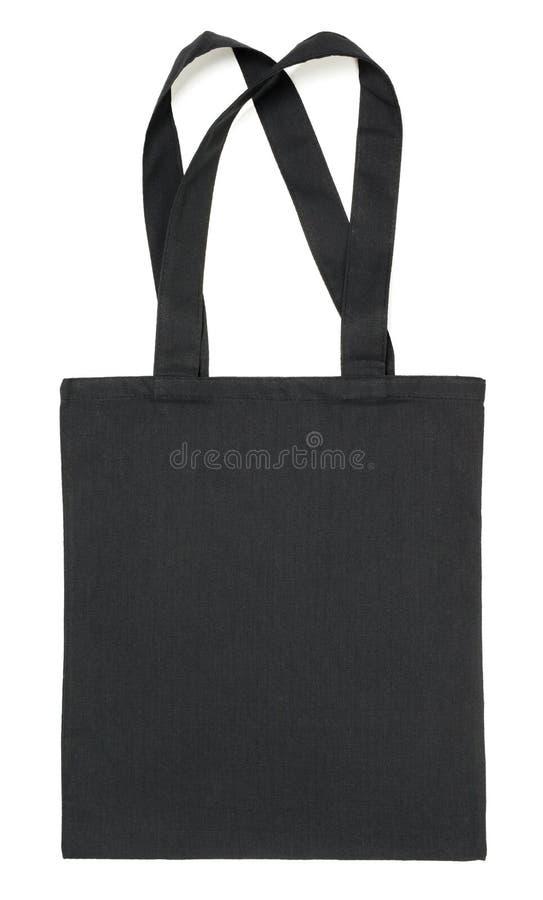 Sac noir de tissu sur le blanc photographie stock