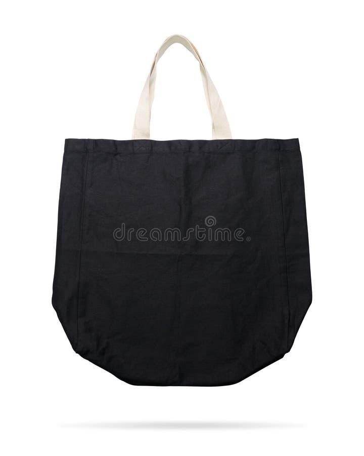 Sac noir de tissu sur le fond d'isolement avec le chemin de coupure Textile de achat de poche pour le montage ou votre calibre de illustration libre de droits