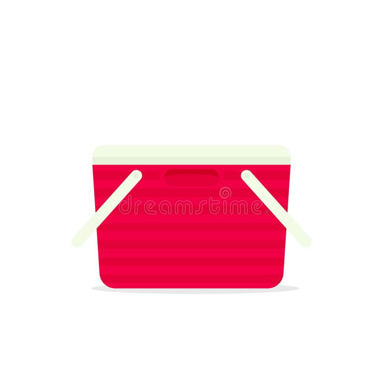 Sac rouge de refroidisseur illustration de vecteur