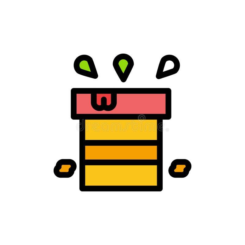 Sac, sec, divers, résistant, icône plate de couleur de l'eau Calibre de bannière d'icône de vecteur illustration libre de droits