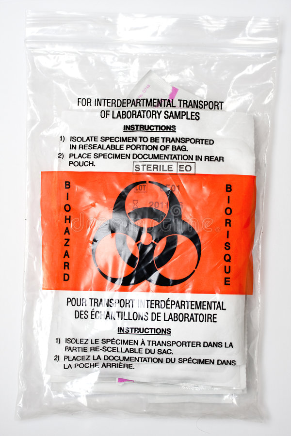 Sac témoin de Biohazard photographie stock