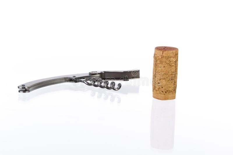 Sacacorchos del corcho y del metal imágenes de archivo libres de regalías