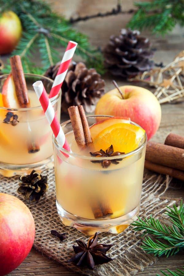 Sacador de la naranja de la manzana de la Navidad fotografía de archivo libre de regalías