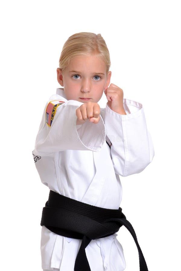 Sacador del karate fotos de archivo