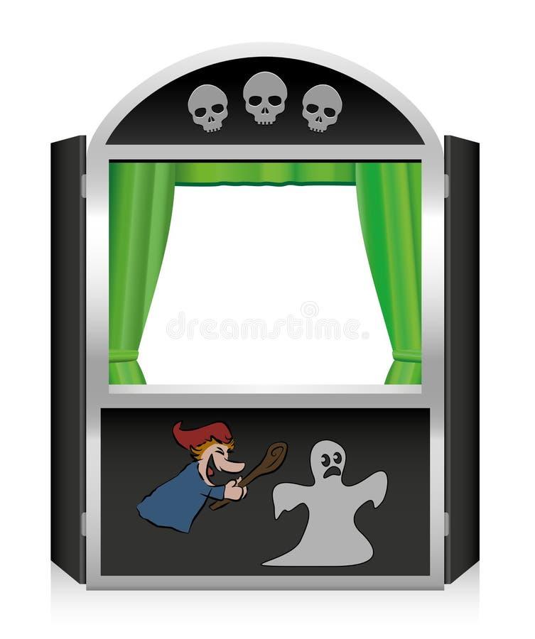 Sacador y Judy Show Scary Horror Show ilustración del vector