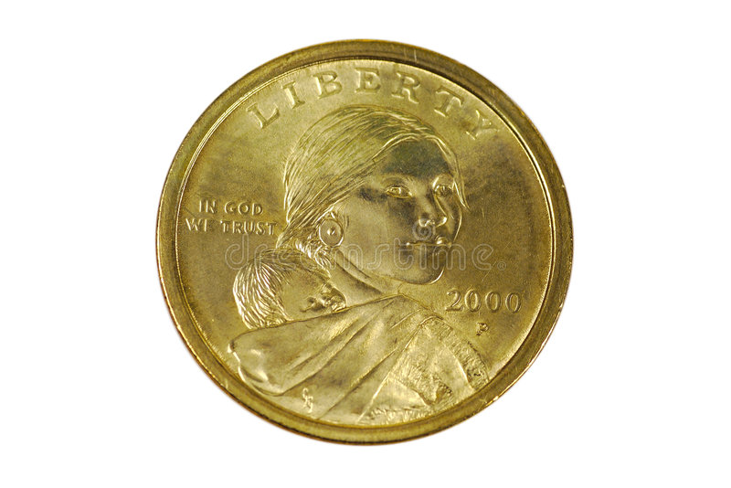 Sacagawea Dollar stockfotos