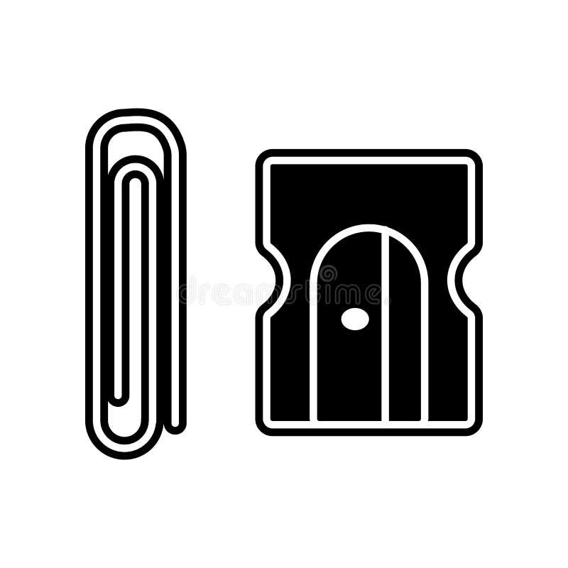 sacapuntas de lápiz e icono de los sacapuntas Elemento de la educación para el concepto y el icono móviles de los apps del web Gl libre illustration