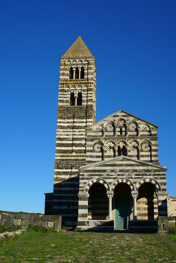 saccargia Сардиния аббатства стоковое фото