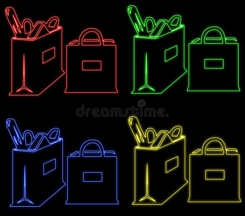 Sacchetti Al Neon Fotografia Stock Libera da Diritti