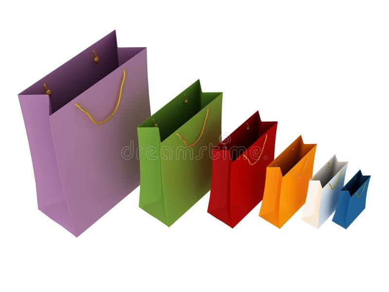 Sacchetti di acquisto immagine stock libera da diritti