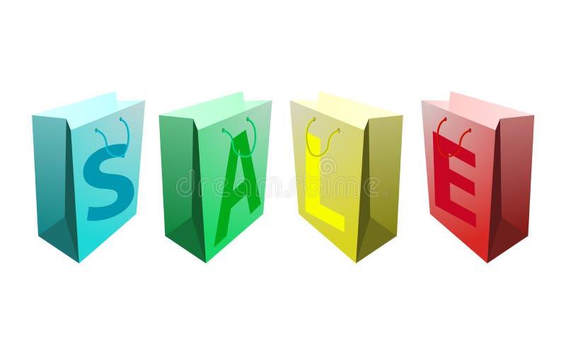 Sacchetti di acquisto di vendita royalty illustrazione gratis