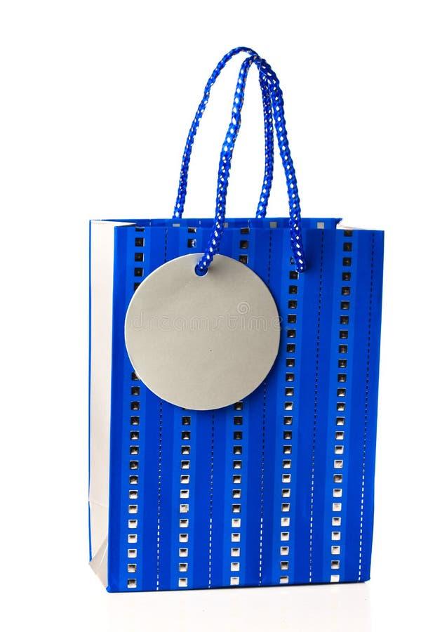 Sacchetto blu del regalo immagini stock