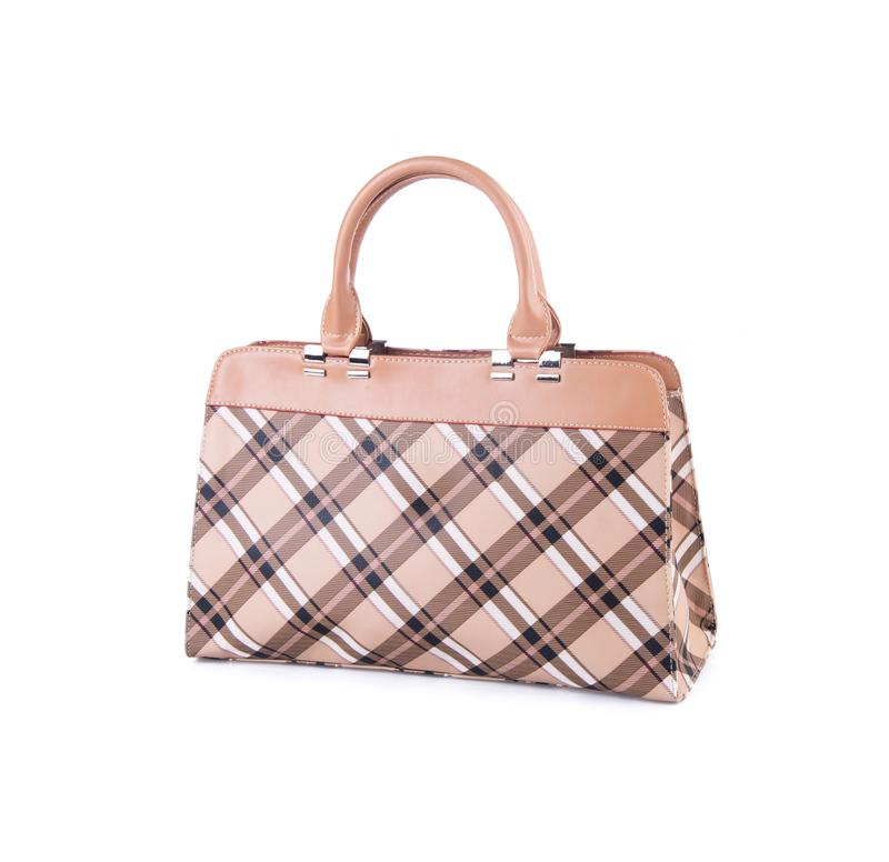 sacchetto borsa delle donne su un fondo immagine stock