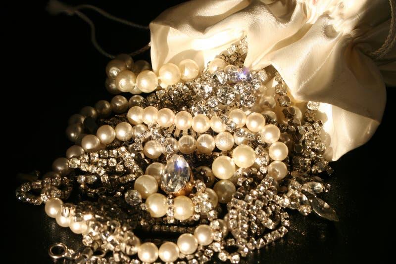 Sacchetto dei gioielli fotografia stock