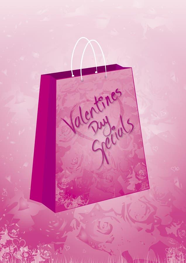 Sacchetto del regalo degli Specials dei biglietti di S. Valentino royalty illustrazione gratis
