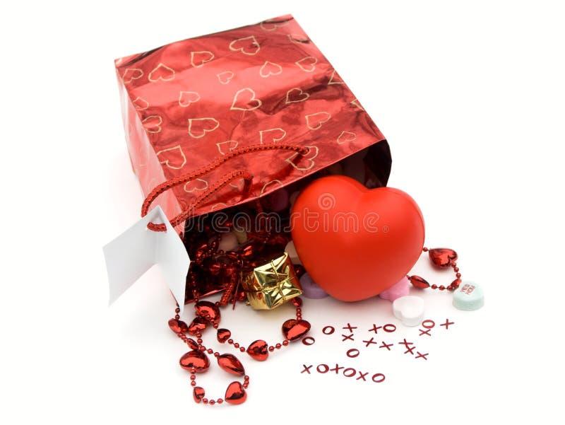 Sacchetto del regalo, presente fotografia stock libera da diritti