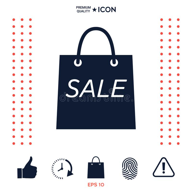 Download Sacchetto Della Spesa Con La Vendita, Simbolo Di Sconto Illustrazione Vettoriale - Illustrazione di icona, sconto: 117976899