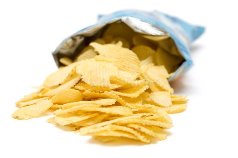 Sacchetto delle patatine fritte fotografia stock libera da diritti