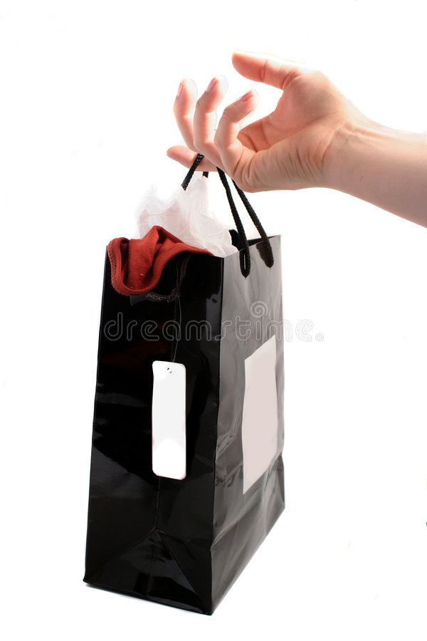 Sacchetto di acquisto fotografie stock