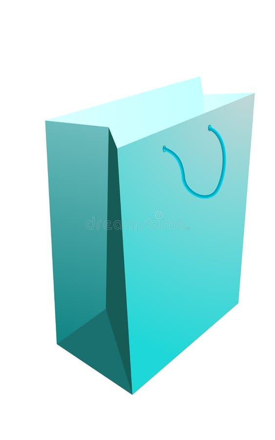 Sacchetto di acquisto blu illustrazione vettoriale