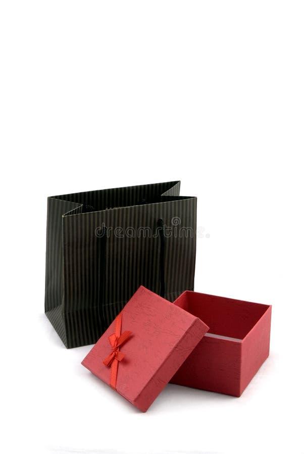 Sacchetto di acquisto e contenitore di regalo immagini stock