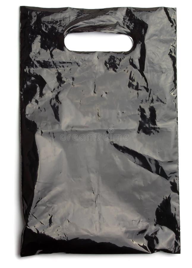 Sacchetto di plastica nero immagini stock libere da diritti
