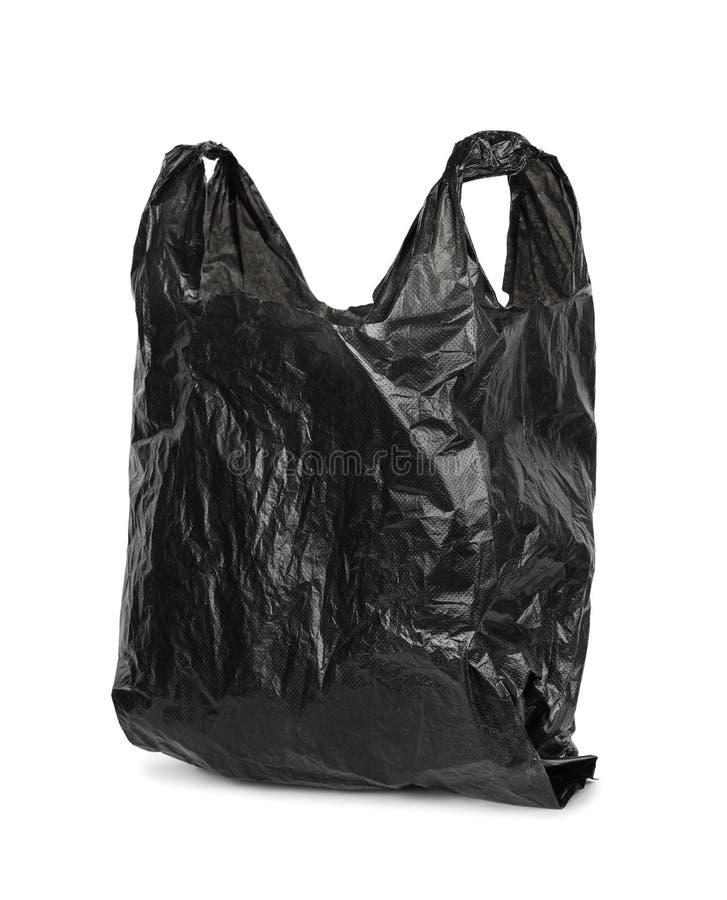 Sacchetto di plastica nero immagini stock