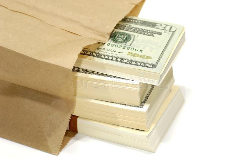 Sacchetto di soldi fotografia stock