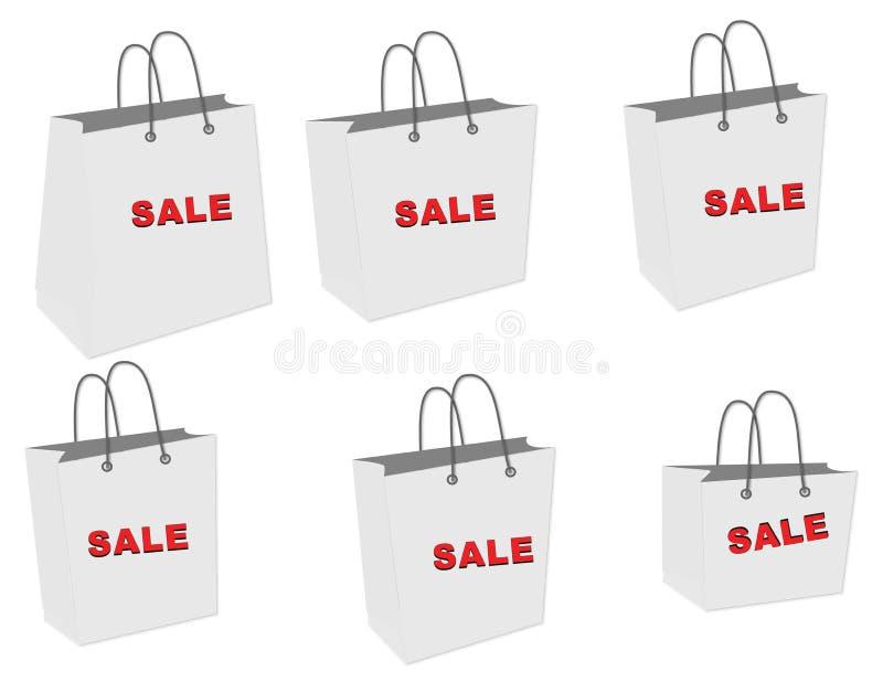 Sacchetto di vendita illustrazione di stock