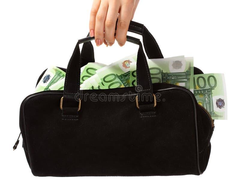 Sacchetto ed euro. immagine stock libera da diritti