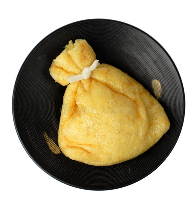 Sacchetto fritto del tofu fotografia stock