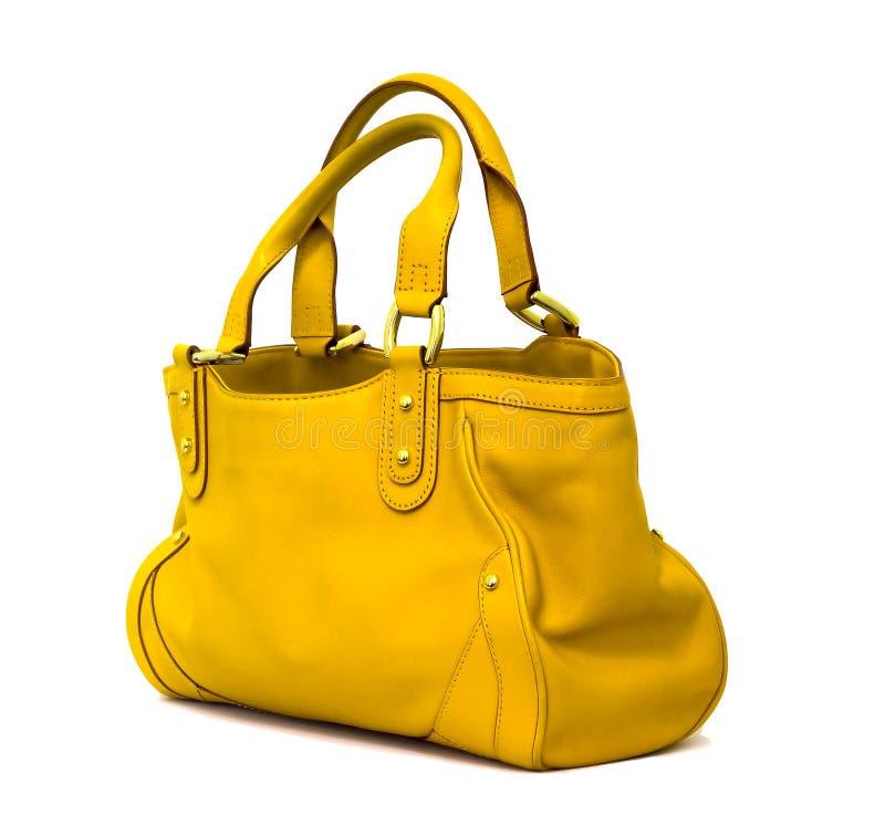 Sacchetto giallo fotografia stock