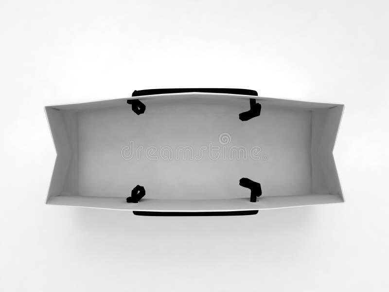 Sacchetto isolato su bianco illustrazione di stock