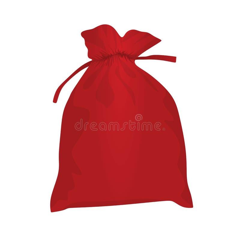Sacchetto rosso di natale royalty illustrazione gratis