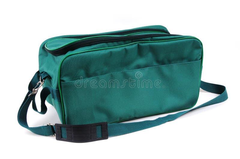 Sacchetto verde isolato fotografie stock libere da diritti