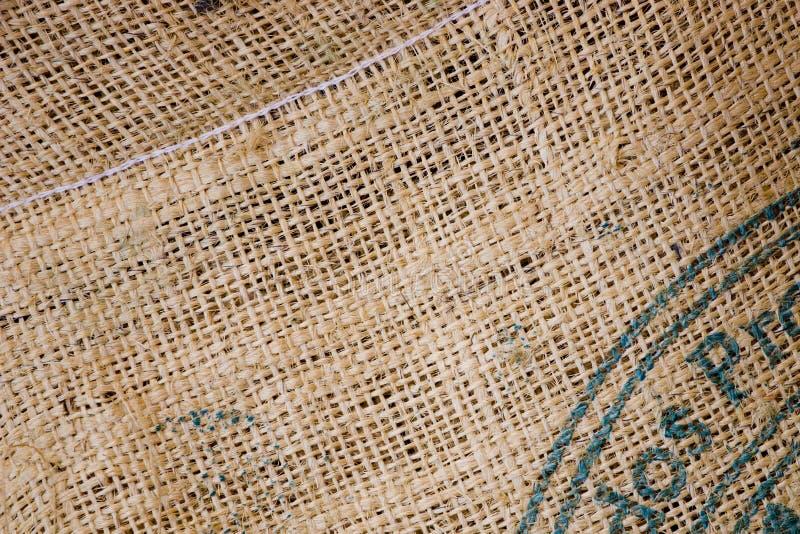 Sacco del caffè della tela da imballaggio fotografia stock libera da diritti
