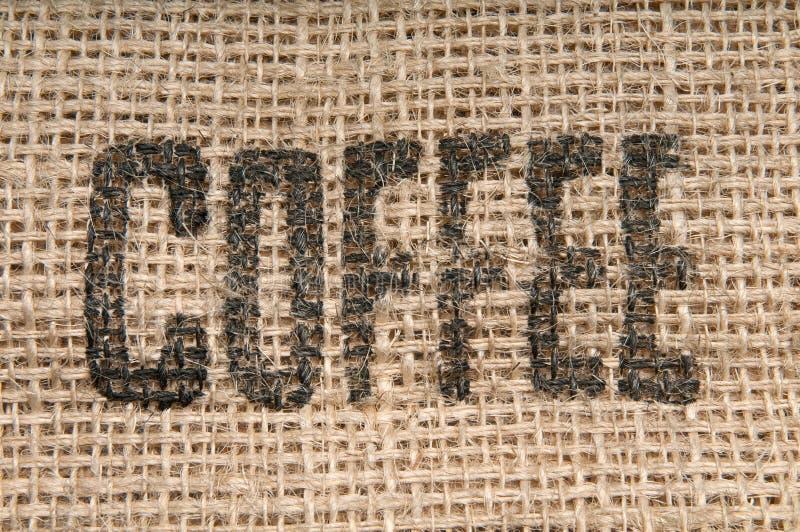 Sacco della tela da imballaggio del caffè immagine stock libera da diritti