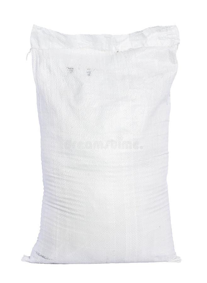 Sacco della tela di canapa con fertilizzante pieno immagini stock libere da diritti