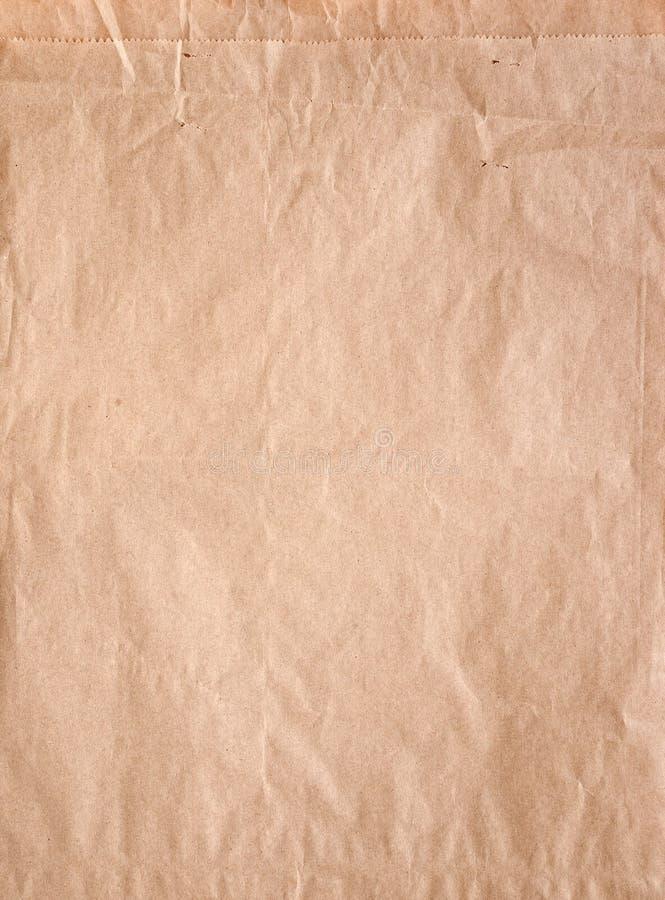 Sacco di carta del Brown fotografie stock