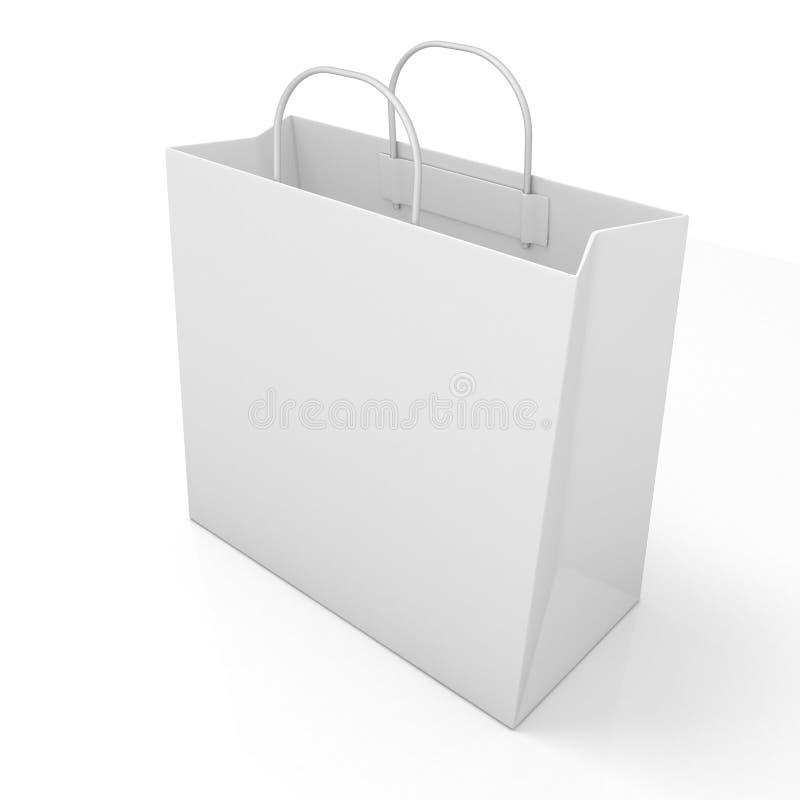Sacco di carta di acquisto vuoto Vista laterale illustrazione vettoriale