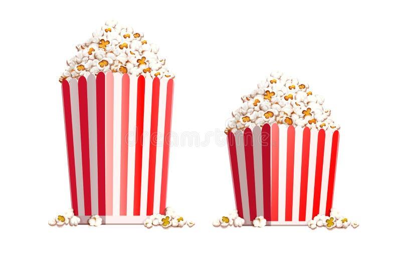 Sacco di carta in pieno di popcorn Illustrazione di vettore illustrazione vettoriale