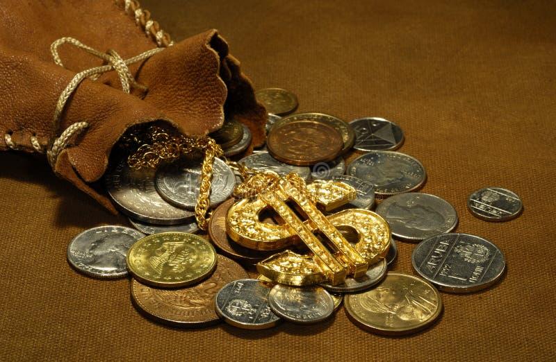 Sacco di soldi fotografie stock