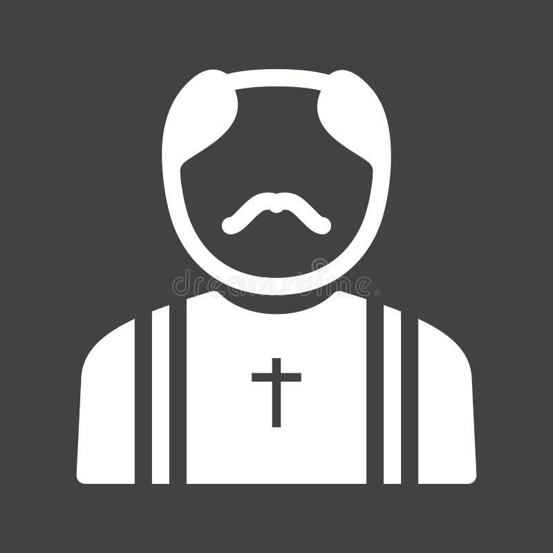 sacerdote ilustración del vector