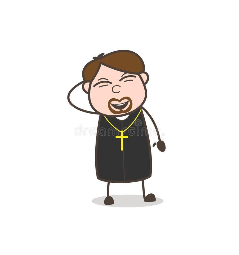 Sacerdote alegre Laughing Expression Vector ilustración del vector